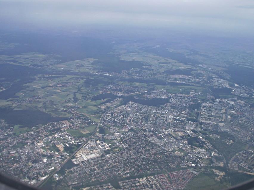 Z lotu ptaka. Podniebny lot z Poznań - Ławica do Sandefjord -Torp (Oslo-Torp)  [ZDJĘCIA]