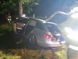 Rzyszczewo - Karwice: Audi uderzyło w drzewo, poszkodowana dwójka dzieci ZDJĘCIA
