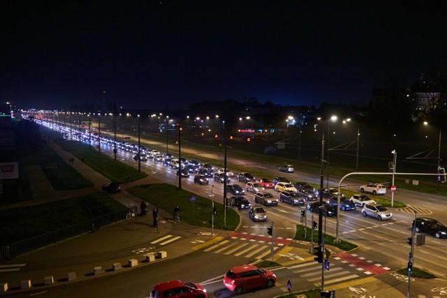 Samochodowy protest w Lublinie