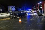 Kolizja na rondzie Kuklińskiego w Słupsku. Jeden z kierowców był pijany