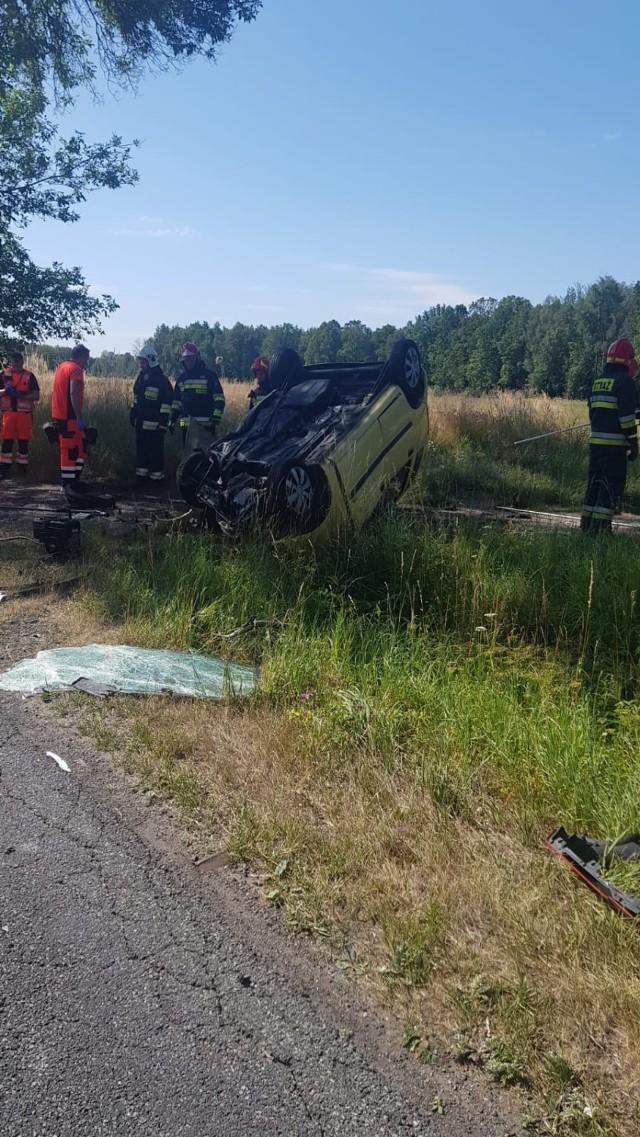 Wypadek na DW 905 w miejscowości Grojec 15.07.2019.