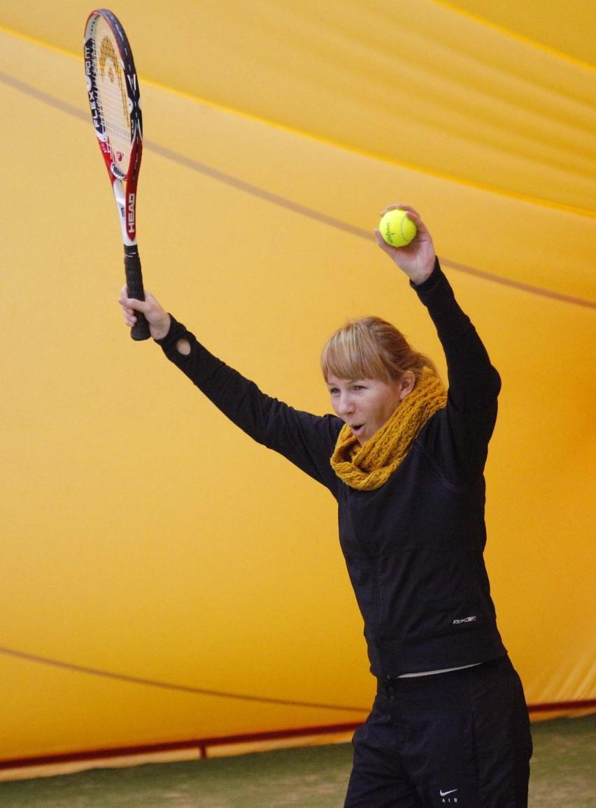 Anna Guzik, Michał Milowicz i Urszula Dudziak na turnieju tenisa [ZDJĘCIA]