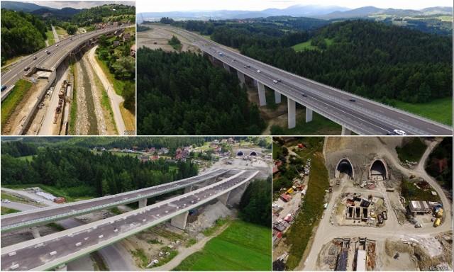 Budowa zakopianki pomiędzy Lubniem i Skomielną Białą wciąż trwa. Kierowcy powinni nim pojechać z końcem 2021 roku.