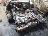 Podpalenie? W katowickim warsztacie spłonęły samochody z lat 50. i 60. Będzie zrzutka na odbudowę