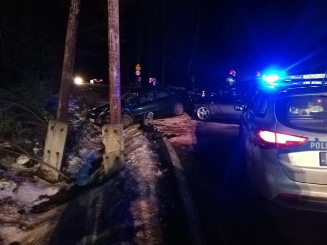 Wypadek na DW965 w Muchówce, 21.02.2021