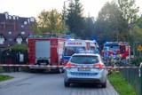 Wypadek motocyklisty w Zakopanem. Kierowca motocykla nie zwolnił przed progiem. Wywrócił się i mocno poobijał