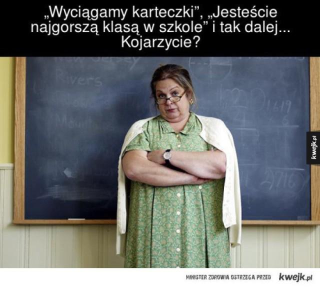 14 października przypada Dzień Edukacji Narodowej, czyli święto wszystkich nauczycieli. Zmagania dwóch frakcji - uczniów i nauczycieli są źródłem wielu memów i demotywatorów. Zobacz te najzabawniejsze -------->
