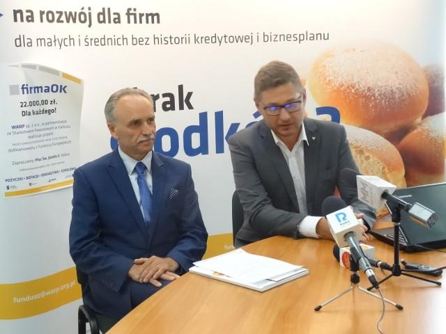 Jarosław Nowak i Krzysztof Nosal informowali o dotacjach WARP
