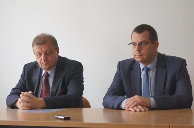 Cezary Lipiński i Grzegorz Koszada podczas konferencji prasowej