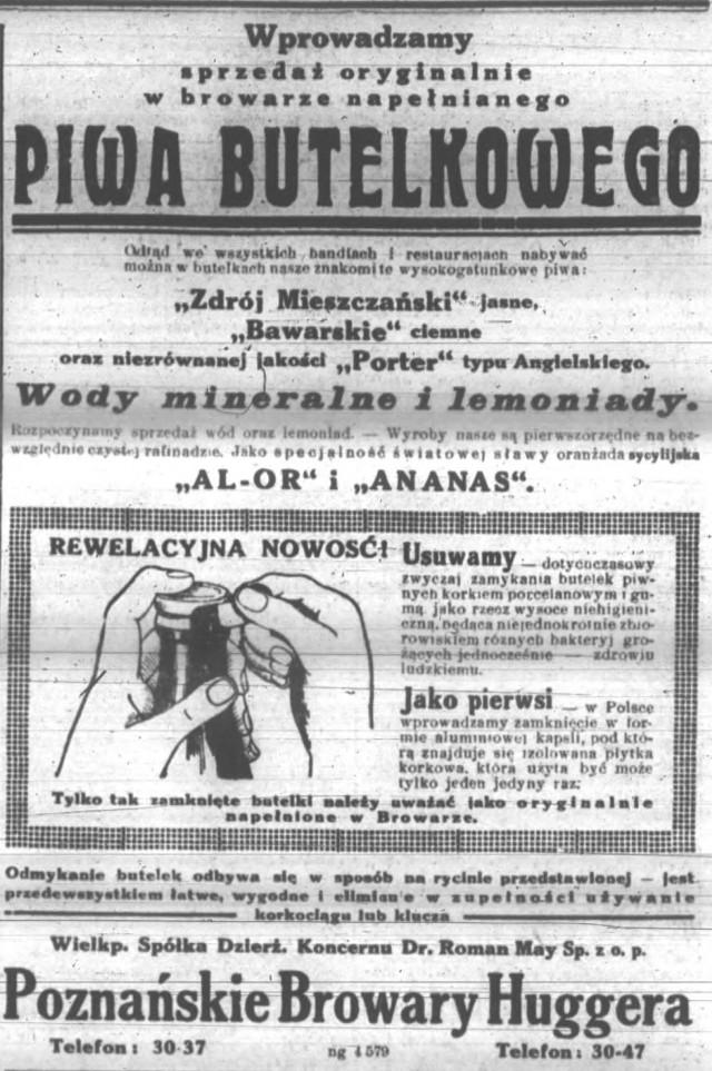 Poznańskie Browary Huggera - reklama