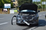 Gierczyce. Wypadek na DW967 w Gierczycach, na skrzyżowaniu zderzyły się dwa samochody osobowe, 28.06.2021 [ZDJĘCIA]