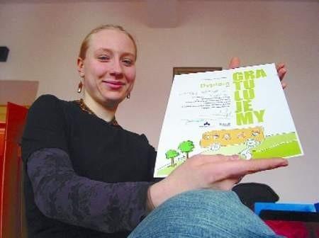 – Warto było pracować przez trzy tygodnie – mówi Martyna Sidorowicz.  FOT. BERNARD £ÊTOWSKI