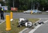 Potrącenie pieszego w Bytomiu. Wjechała w niego motocykliska