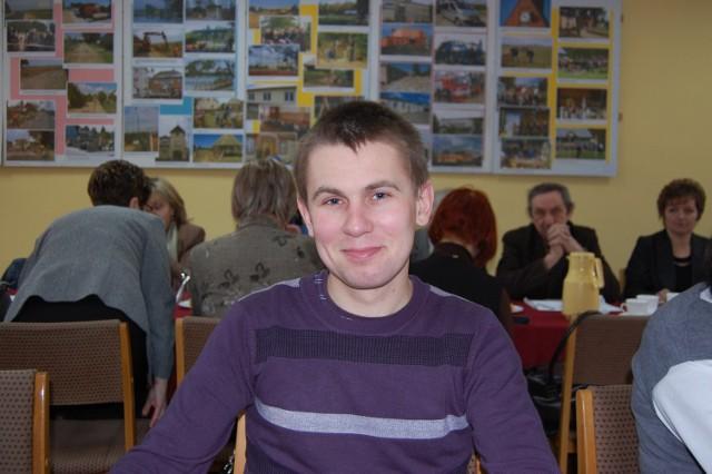 Najmłodszy sołtys w gminie Koczała - Kamil Reszke - został wybrany na kolejką kadencję