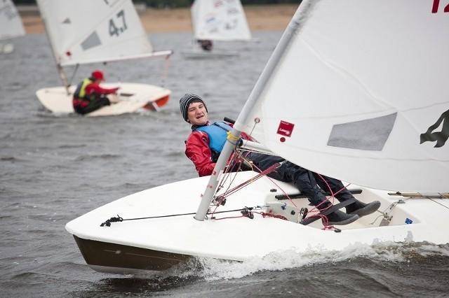 Żeglarski Puchar Polski Kacper Sailor w klasie Optymist i Laser 4,7 - Zalew Porajski 2013