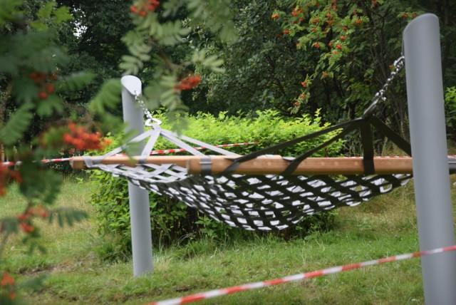 Hamaki w parku Suble w Tychach