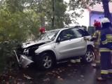 Miodary: Kierowca samochodu uderzył w drzewo