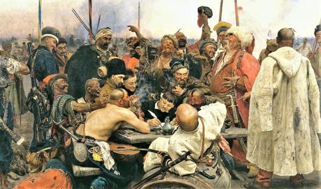 Kozacy piszą list do sułtana. Obraz pędzlaIlji Riepina. Obecnie znajduje się w muzeum w Sankt Petersburgu