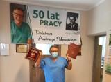 Nagroda Herbu Powiatu na 50-lecie pracy zawodowej