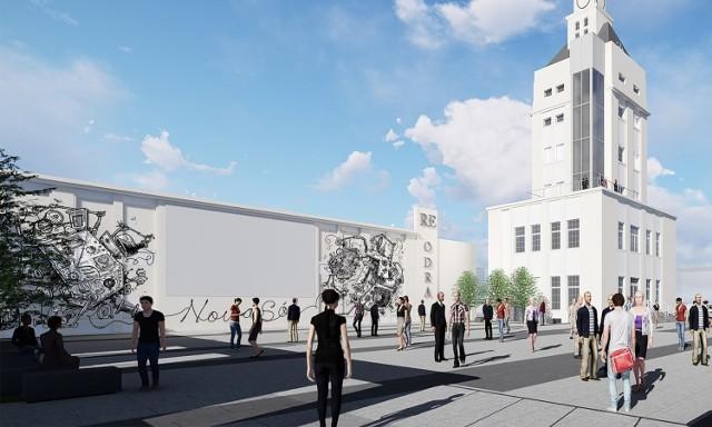 Mural będzie częścią rewitalizacji dawnej fabryki nici Odra w Nowej Soli.