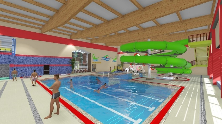 Tak pierwotnie miał wyglądać kryty basen w Kostrzynie....