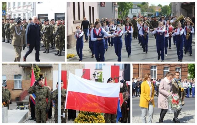 3 maja Święto Konstytucji. Uroczystości pod pomnikiem Powstańców Wielkopolskich w Zbąszyniu.