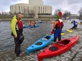 Zimowy Spływ Brdą dobiegł końca. Aleksander Doba dopłynął do Bydgoszczy