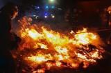 Gmina Niechanowo. Nocny pożar stogu w Mierzewie