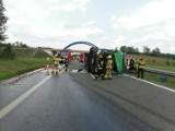 Poważny wypadek na drodze S3. Zderzyły się dwie ciężarówki