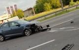 Sosnowiec: Wypadek na DK86. Zderzyły się trzy samochody. Tworzyły się duże korki w stronę Olkusza