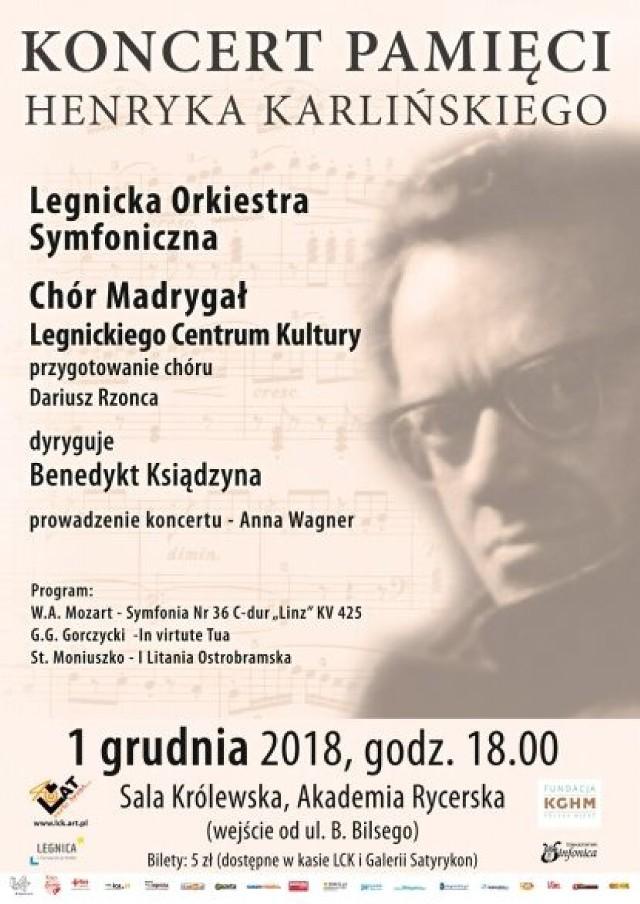 Koncert Pamięci Henryka Karlińskiego. Już 1 grudnia zagrają w Legnicy