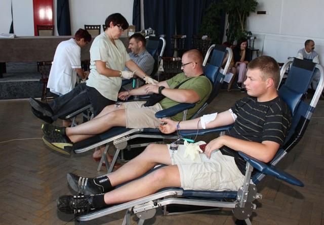 Liczba krwiodawców przerosła oczekiwania organizatorów akcji.