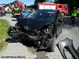 Znów wypadek w Starym Wiśniczu: jedna osoba ranna. Samochodami podróżowało 6 osób, w tym dzieci [ZDJĘCIA]