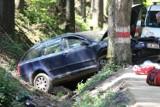 Wypadek na drodze Parku Narodowym Gór Stołowych