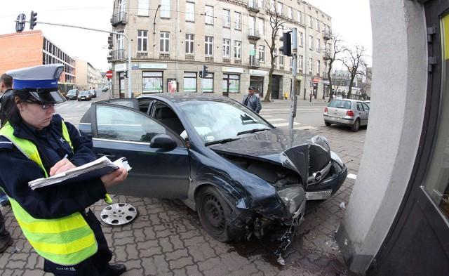 Wypadek na Gdańskiej i Andrzeja Struga w Łodzi
