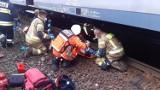 Na dworcu PKP w Bytomiu pociąg potrącił mężczyznę. 55-latek trafił do szpitala