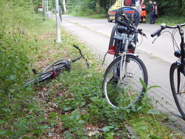 Po zdarzeniu 13-letniego rowerzystę karetka pogotowia zabrała do szpitala