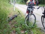 Wypadek na drodze do Ustki. 13-letni rowerzysta wpadł pod samochód