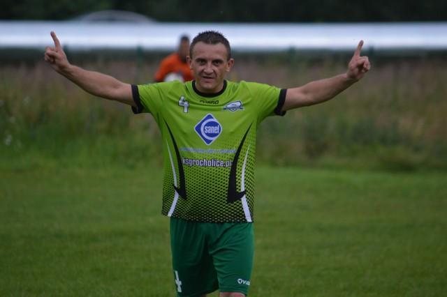 W ostatnim meczu jesieni KSG pokonało u siebie Ruch Chrzanowice 5:1, a trzy gole zdobył Tomasz Nowicki (na zdjęciu)