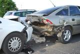 Wypadek w Jaśle. Zderzyły się trzy auta [zdjęcia]