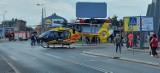 Śmigłowiec LPR lądował w Chorzowie na ulicy Truchana. Wezwano go do kobiety, która zasłabła