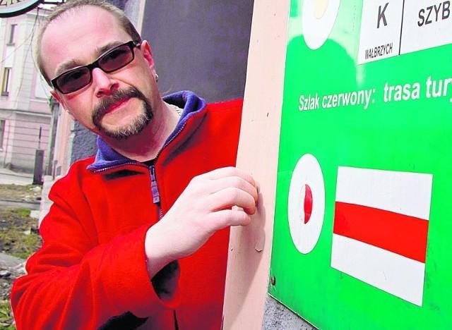 Jacek Pielich martwi się, że PTTK nie ma pieniędzy na znaki