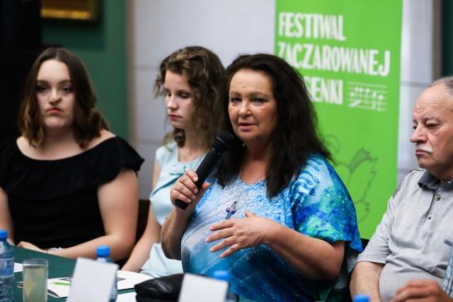 Konferencja 15. Festiwalu Zaczarowanej Piosenki. Anna Dymna