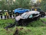 Gmina Rzeczenica. Dwa samochody wypadły z drogi w okolicy Trzmielewa