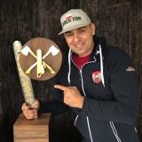 Michał Dubicki został mistrzem Europy w sportowym cięciu i rąbaniu drewna