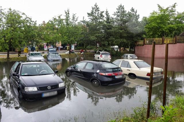 Rekordowa ulewa w Szczecinie - 1.07.2021