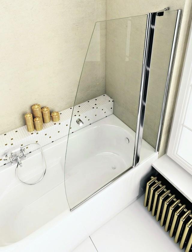 Parawan zamontowany na brzegu wanny jest idealnym rozwiązaniem, które pozwoli nam połączyć zalety relaksującej kąpieli z szybkim myciem się pod prysznicem