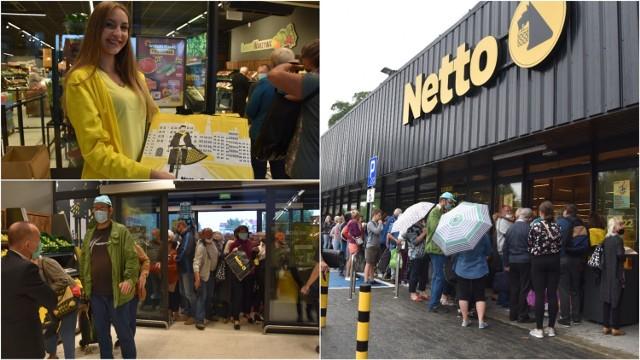 Kolejka przed sklepem Netto w Tarnowie ustawiała się od samego rana