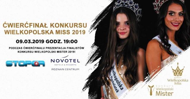 Wielkopolska Miss 2019. 9 marca ćwierćfinał konkursu. Oto kandydatki
