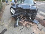 Wypadek u zbiegu ulic Arkońskiej i Wojciechowskiego. Poszkodowane są trzy osoby